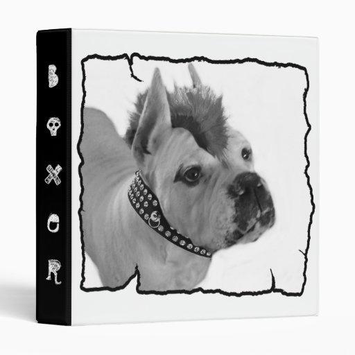 White Boxer punk binder