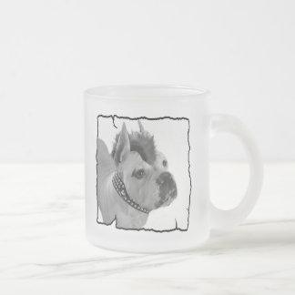 White Boxer punk frosted mug