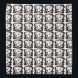 """White Boxer puppy Bandana<br><div class=""""desc"""">add text or upload your own image</div>"""