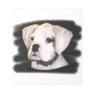White Boxer puppy Notepad