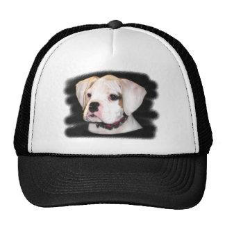 White Boxer puppy Trucker Hat