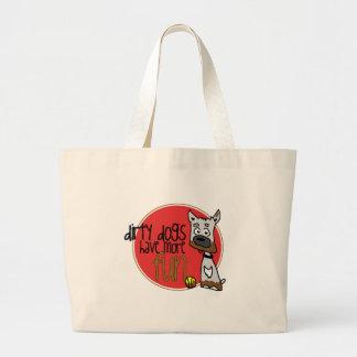 White Boxer -Red Logo Jumbo Tote Bag
