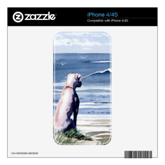 White Boxer Skin For iPhone 4