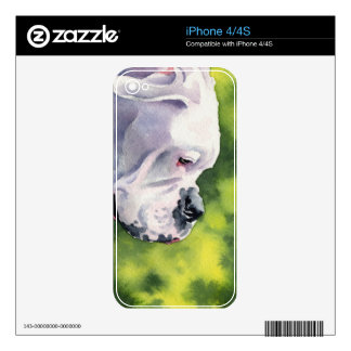 White Boxer Skin For The iPhone 4
