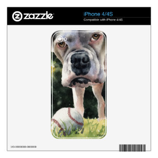 White Boxer Skins For iPhone 4S