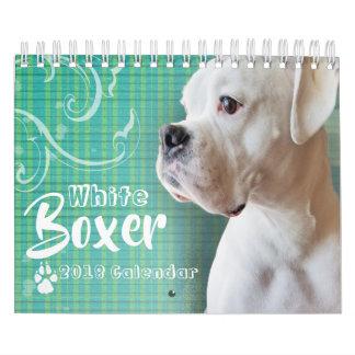 White Boxer Wall Calendar