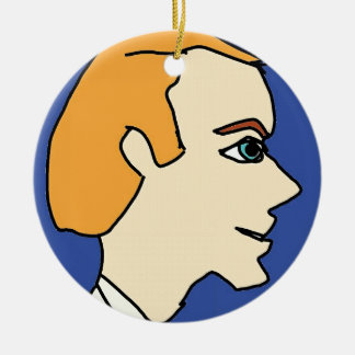 white boy1 ceramic ornament