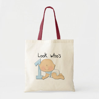 White Boy 1st Birthday Tshirts and Gifts Tote Bag