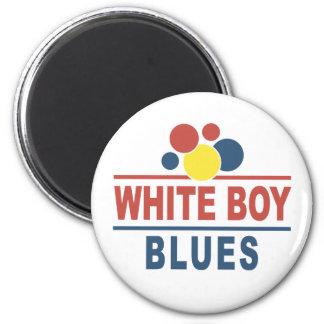 White Boy Blues 2 Inch Round Magnet