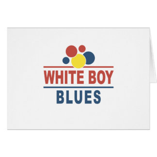 White Boy Blues Greeting Card