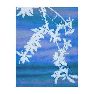 White Branch Canvas Print