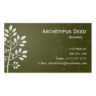 White Branch on Brown Business Card