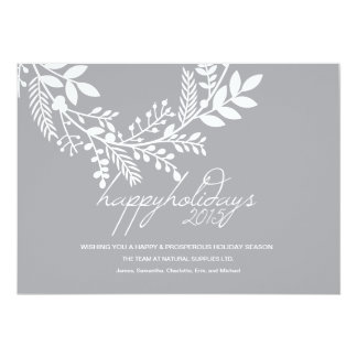 White Branch on Gray Holiday Corporate Card
