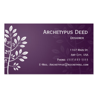White Branch on Purple Business Card