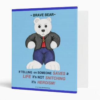 White Brave Bear Binder