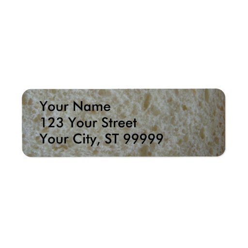 White Bread Address Label