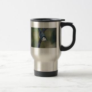 White-breasted nuthatch 15 oz stainless steel travel mug