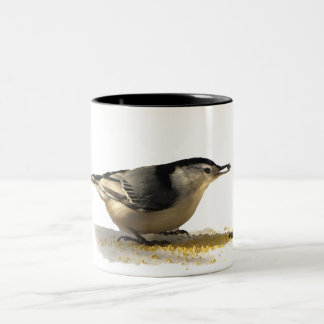 White-breasted Nuthatch Two-Tone Coffee Mug