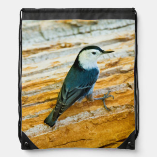 White-Breasted Nuthatch (Sitta Carolinensis) Drawstring Bag