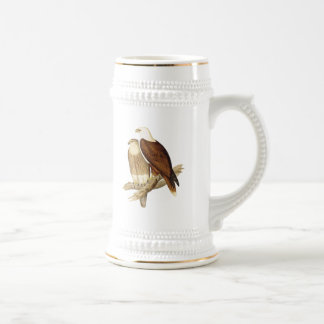 White Breasted Sea Eagle. Large Bird of Prey. Beer Stein