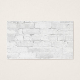 White Brick Background Business Card