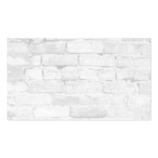 White Brick Background Double-Sided Standard Business Cards (Pack Of 100)
