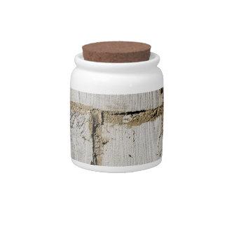 White Brick Candy Jar