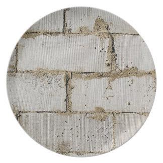 White Brick Dinner Plate
