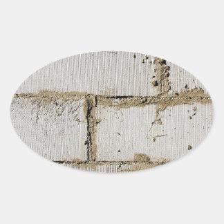 White Brick Oval Sticker