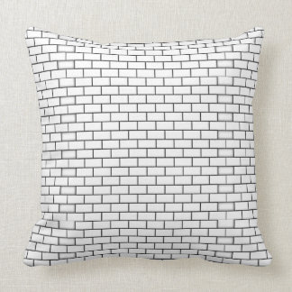 White Brick Pattern Throw Pillow