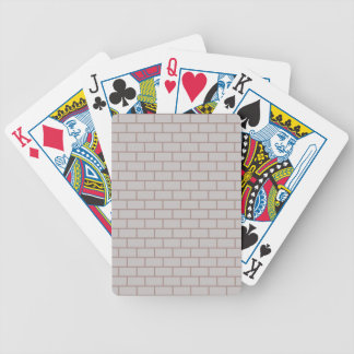 White brick wall bicycle playing cards