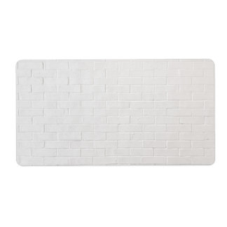White Brick Wall Grey Bricks Texture Grunge Label