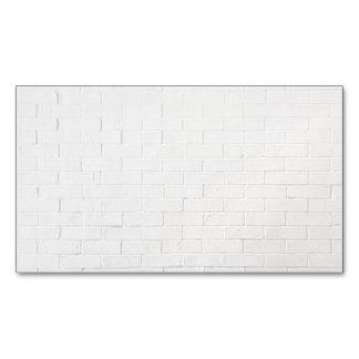 White Brick Wall Grey Bricks Texture Grunge Magnetic Business Card