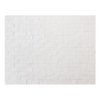 White Brick Wall Grey Bricks Texture Grunge Postcard