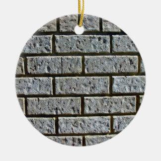 White Brick Wall With Irregular Patterns on Brick Ornaments