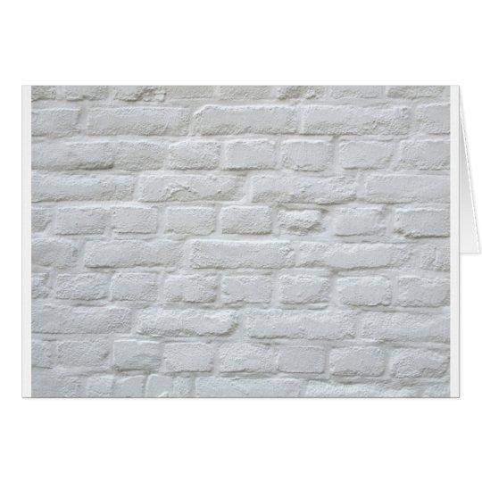 White bricks card