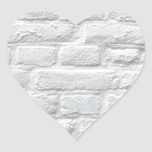 White Bricks Heart Sticker