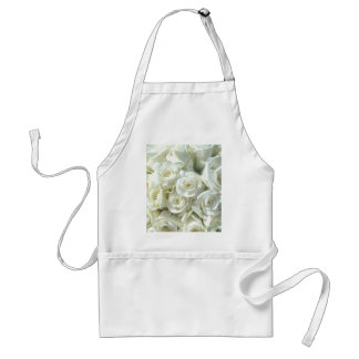 White Bridal Bouquet Apron - Customizable