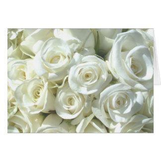 White Bridal Bouquet Card