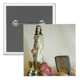 White Bridal IV Pinback Button