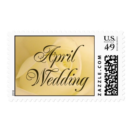 White Bridal Rose - April Wedding Postage