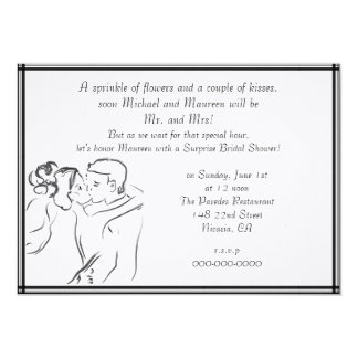 White Bridal Shower Card