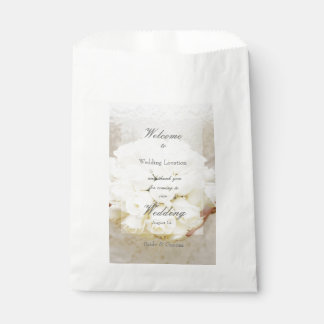 White Bridal Wedding Flower Bouquet Favor Bag