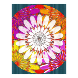 WHITE bright SUN Chakra Sunflower Yoga Mandala FUN Letterhead