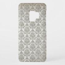 White Brocade Damask Print Case-Mate Samsung Galaxy S9 Case
