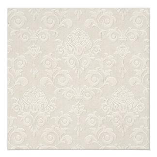 White Brocade Invitation
