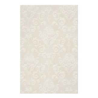 White Brocade Stationery