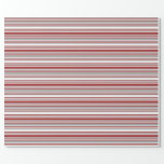 [ Thumbnail: White, Brown & Dark Grey Colored Lines Wrapping Paper ]