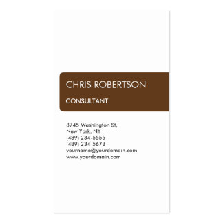 White Brown Striped Attractive Charm Business Card