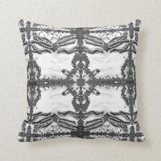 White Buddha Art Pillow by Deprise